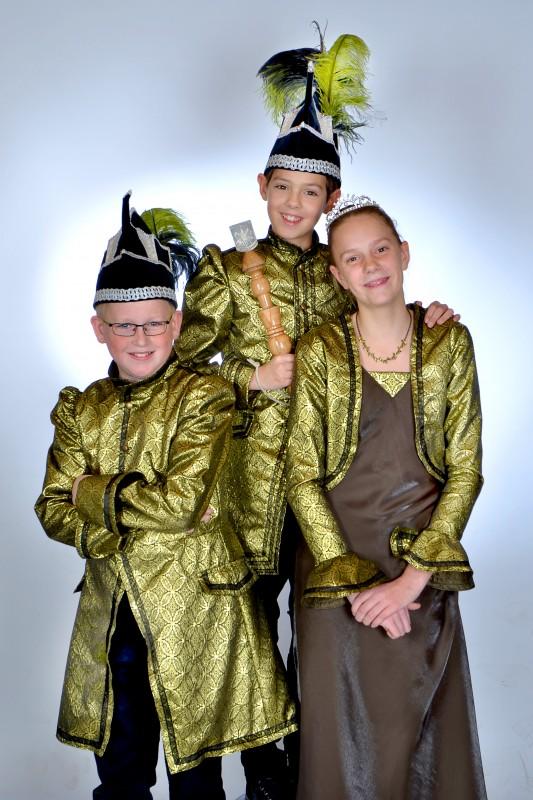 Jeugdtrio 2013 - Jeugdprins Zaai, Jeugdprinces Maai en Adjudant Oogst
