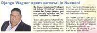 Django Wagner trapt carnaval af! (bron: De Nuenense Krant)