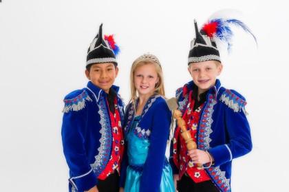 Jeugdtrio 2015: Jeugdprins Holiday, Jeugdprinses Summer en Adjudant Fiësta