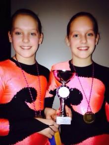 Lieke en Lotte 1e prijs!