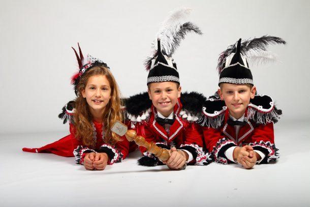Jeugdtrio 2018 - Jeugdprins Snowfox, Hofdame Crystal en Adjudant Freeze