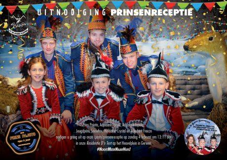 Uitnodiging receptie CV De Narre-Kappen 2018