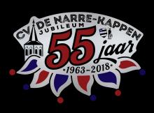 Logo CV De Narre-Kappen jubileum 55 jr
