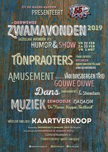 Gerwense Zwamavonden 2019 poster A4 staand