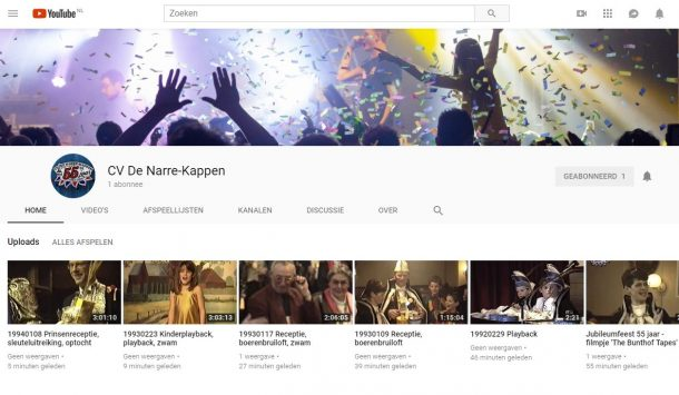 Ons YouTube Channel