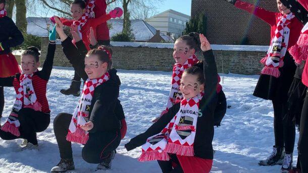 Dansmariekes in de sneeuw